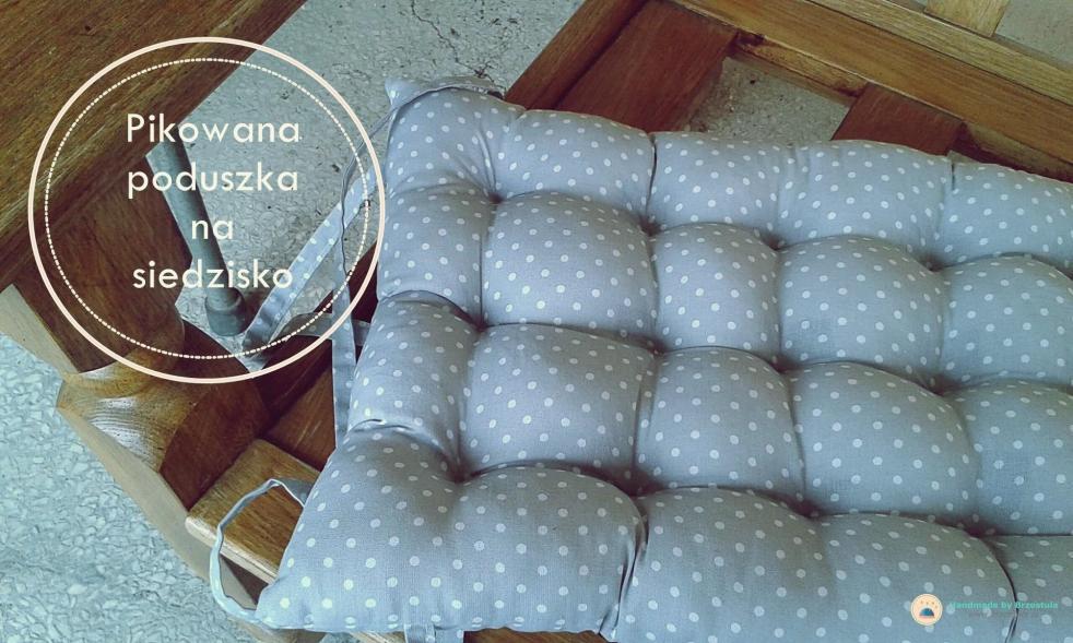 pikowana poduszka na siedzisko