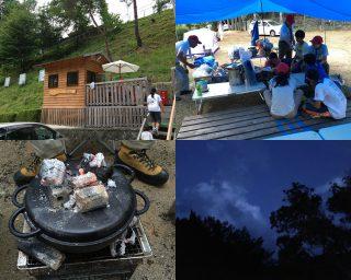 【サイト】ビーバースカウトはロッジに、ボーイ以上はテントです。