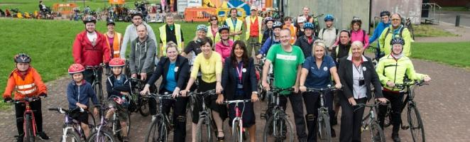 Tesco grant gets cycling charity rolling
