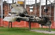 Abgeschossener serbischer Militärjet.