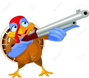15793761-Illustration-of-shooting-turkey-Stock-Vector-gun