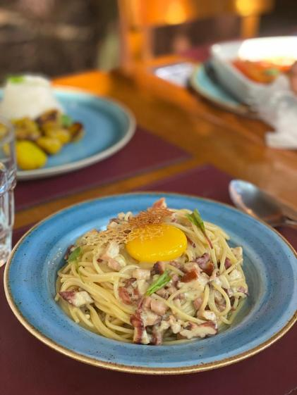 Espaguete alla Carbonara di pulpo - Cantucci Osteria - Divulgacao
