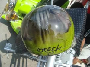 casco calavera moto triciclo