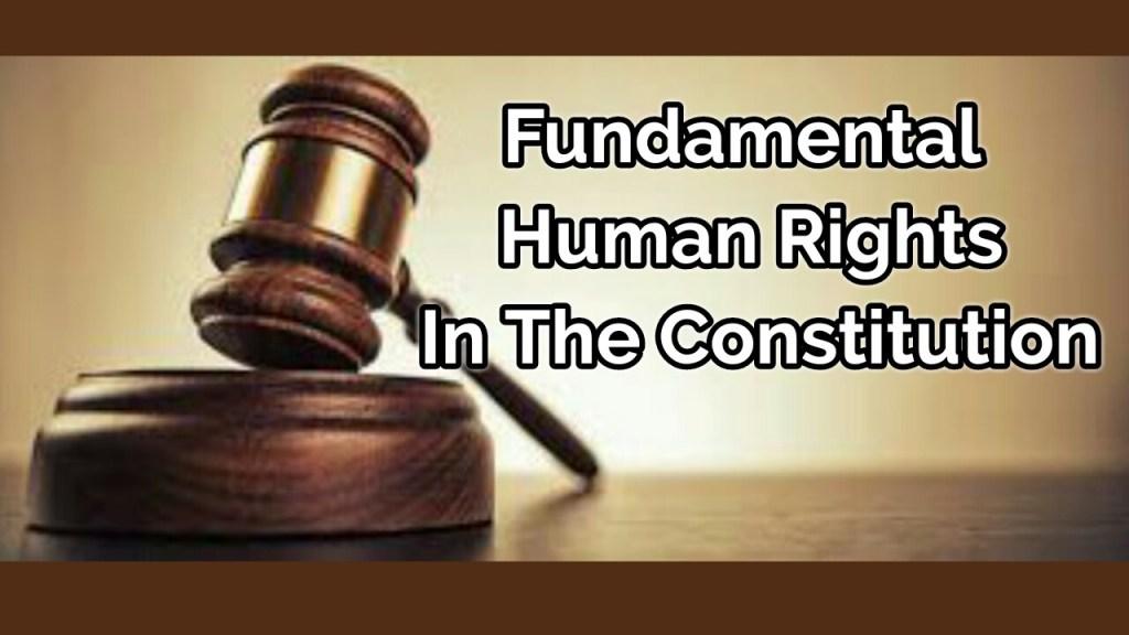 Fundamental human rights in Nigerian constitution