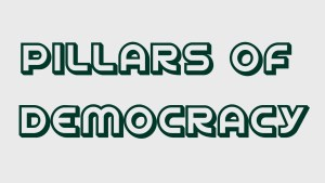 Explain the pillars of democracy