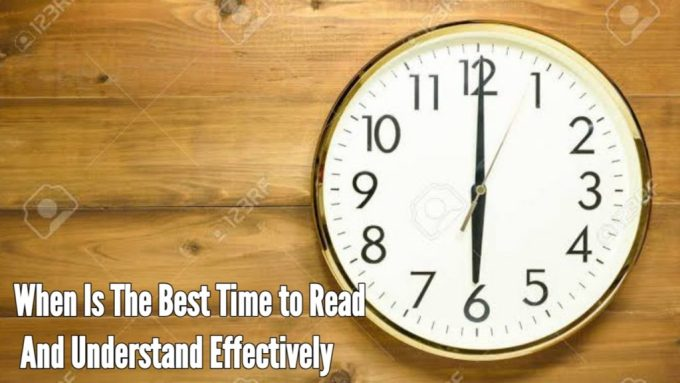 Best and most convenient times to read books and understand