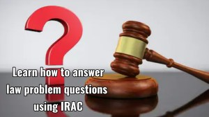How to answer law problem question