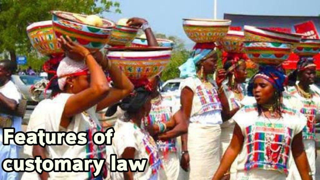 Proof of customary law in Nigeria