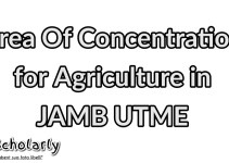 areas of concentration for Agriculture in JAMB