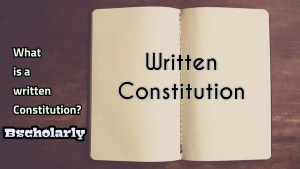 advantages and disadvantages of a written constitution