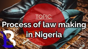 process of law making in Nigeria