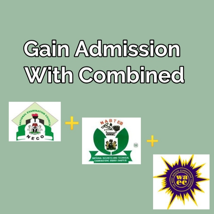 Can i combine WAEC and NECO result for admission into university, polytechnic or college of education? Is it possible to combine WAEC and NECO result.