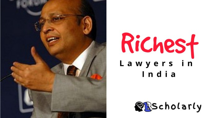 who is Indians richest lawyer?