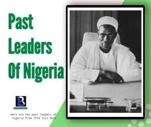 past governor generals of Nigeria