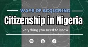 ways of acquiring citizenship in Nigeria