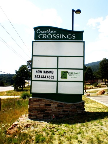 Conifer-Crossing monument