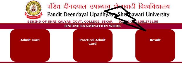 Shekhawati university Result 2021