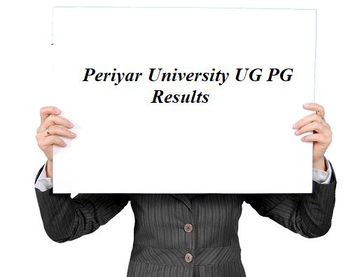 Periyar University Result 2021
