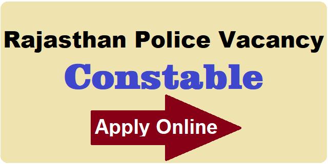 Rajasthan Police Constable Vacancy 2019