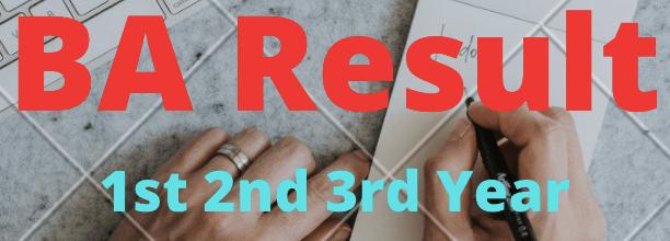 BA Result 2021