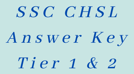 ssc chsl answer key 2021