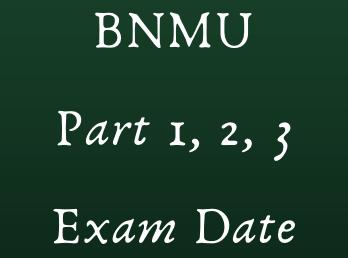 bnmu exam date 2021