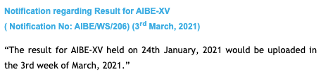 AIBE Result Date 2021