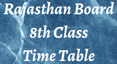 rbse 8th class time table 2022
