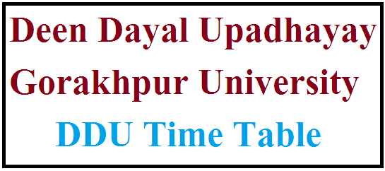 DDU Time Table 2022