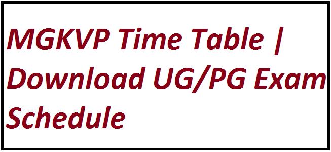 MGKVP Time Table 2021