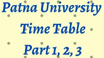 Patna University Exam Date 2021