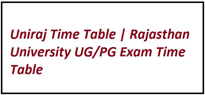 Uniraj Time Table 2021