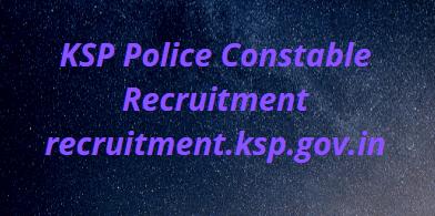 KSP Police Constable Recruitment 2021