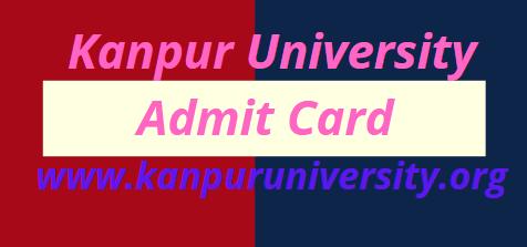 Kanpur University Admit Card 2021