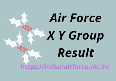 वायु सेना XY समूह परिणाम 2021