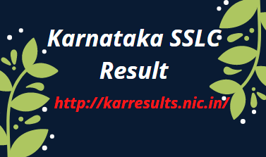 karresults.nic.in 2021 SSLC Results