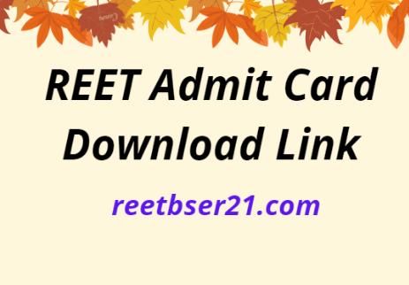 reetbser21.com Admit Card 2021