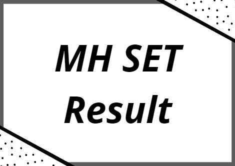 MH SET Result 2021