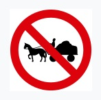 No Entry For Bullock Cart Sign