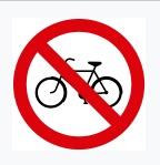 No Entry For Cycles Sign