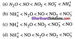 Bihar Board 12th Chemistry Objective Answers Chapter 7 p-ब्लॉक के तत्त्व 1