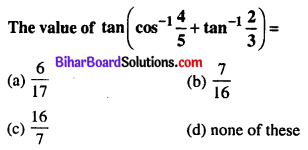 Bihar Board 12th Maths Objective Answers Chapter 2 Inverse Trigonometric Functions Q22