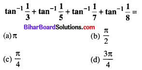 Bihar Board 12th Maths Objective Answers Chapter 2 Inverse Trigonometric Functions Q27