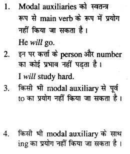 Bihar Board Class 12 English Grammar Modal Auxiliaries 2