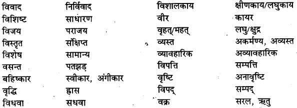 Bihar Board Class 12th Hindi व्याकरण विलोम या विपरीतार्थक शब्द 15