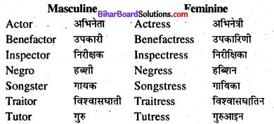Bihar Board Class 8 English Grammar Gender and Person 3
