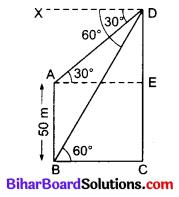 Bihar Board Class 10 Maths Solutions Chapter 9 त्रिकोणमिति के कुछ अनुप्रयोग Additional Questions SAQ 4