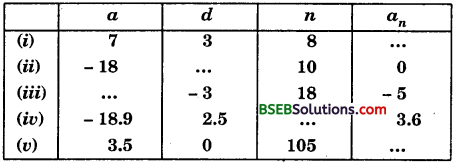 Bihar Board Class 10th Maths Solutions Chapter 5 Arithmetic Progressions Ex 5.2 img 1