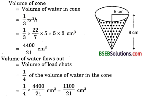 Bihar Board Class 10th Maths Solutions 13 Surface Areas and Volumes Ex 13.2 7