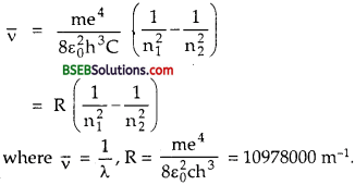 Bihar Board Class 12th Physics Solutions Chapter 12 Atoms - 1